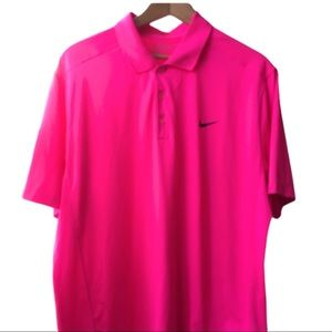 Nike Golf Tour Performance dry fit shirt XL neon